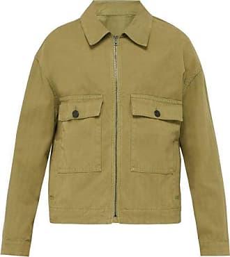 Raey Boxy Herringbone-denim Jacket - Mens - Khaki