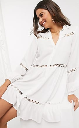 Y.A.S smock dress with cut out detail in white