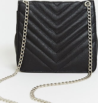 Urban Code quilted leather bag with chain strap in black