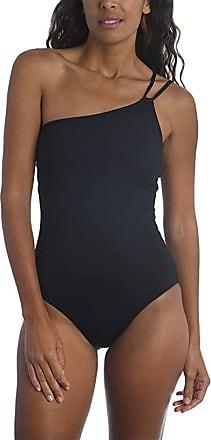 La Blanca Womens Meridian White Stretch Striped One-Piece Swimsuit 4 BHFO 4952