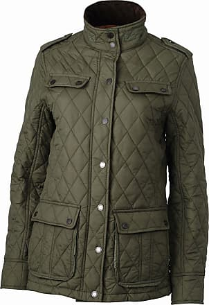 2Store24 Ladies Diamond Quilted Jacket in Dark-Olive Size: L