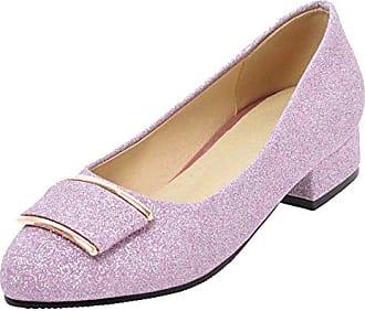 a45d337cb9d98b Aiyoumei Glitzer Pumps Damen Chunky Heels Pumps mit 3cm Absatz Bequem Schuhe