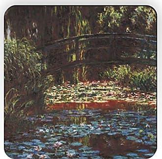 Rikki Knight Rikki Knight Claude Monet Art Water Lily Pond 1 Design Square Fridge Magnet