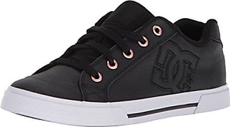 DC Womens Chelsea TX SE Skate Shoe Black/White, 5 B US