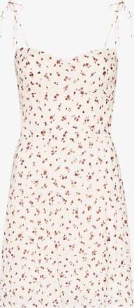 Reformation Womens Neutrals Othello Tie-strap Mini Dress