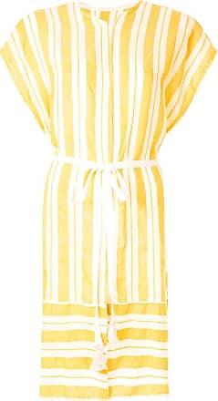 Lemlem Vestido Doro listrado - Amarelo