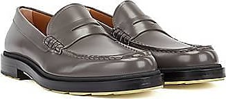 BOSS Penny loafers in brush-off leather with coloured details