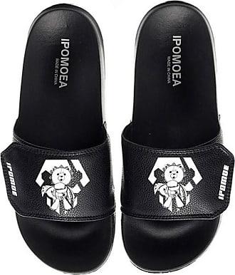 Cosstars Bleach Unisex Anime Slippers Open Toe Sandals Adjustable Hook and Loop 8 / Black 290 MM