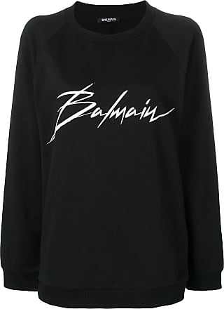 Balmain crewneck signature sweatshirt - Black