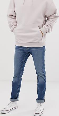 Hollister skinny fit jeans in medium light wash-Blue