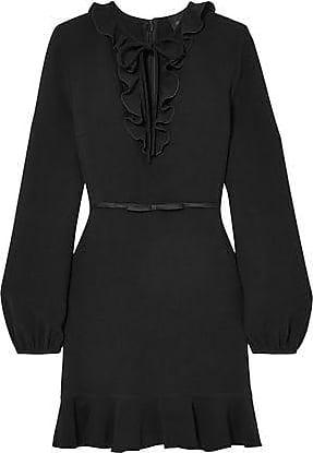 Giambattista Valli Giambattista Valli Woman Ruffled Crepe Mini Dress Black Size 40