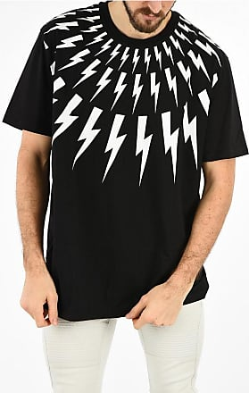 Neil Barrett T-shirt FAIR ISLE THUNDERBOLT con Stampa taglia Xxl