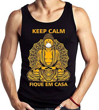 Dragon Store Camiseta Regata Buda Quarentena Corona Budha Keep Calm