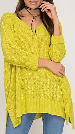 She + Sky High Low Slouchy Sweater