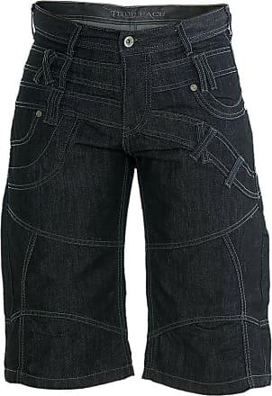 True Face Mens Denim Jeans Short Black 32