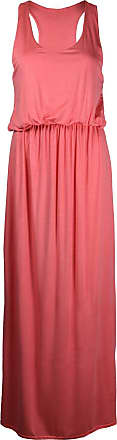 Purple Hanger Womens Plain Sleeveless Ladies Scoop Neckline Stretch Racer Back Toga Long Full Vest Jersey Maxi Dress Plus Size Coral Size 20 - 22