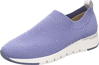 Caprice Womens KAIAFLY Slip On Trainers, Blue Jeans Knit 832, 6 UK