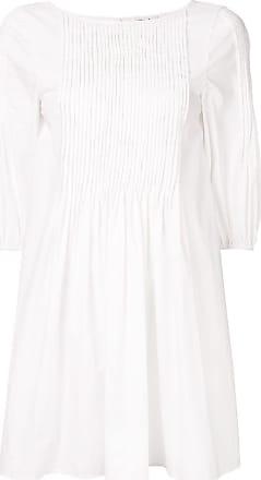 Whit Vestido plissado - Branco