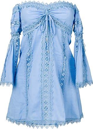 Charo Ruiz Ibiza off-shoulder embroidered blouse - Blue
