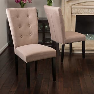 BEST SELLING HOME Fabric Parson Dining Chair - Set of 2 Deep Orange - 296541