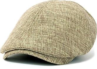 Ililily Linen Flat Cap Cabbie Hat Gatsby Ivy Caps Irish Hunting Hats Newsboy with Stretch fit (flatcap-531-6)