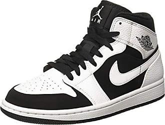 Nike Herren AIR Jordan 1 MID Fitnessschuhe, Weiß Black/White 113, 47.5 EU