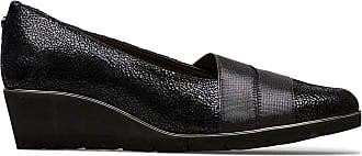 Van Dal Womens Lennox X Wide EE Fit Low Wedge, Black Crackle Print, Size 4 UK