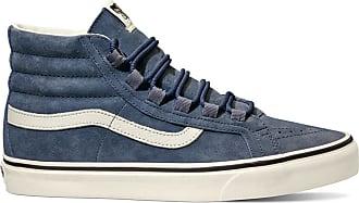 0bbdda5ad1 Vans Sneakers en Velours de Cuir Sk8-Hi Reissue Ghillie bleu gris