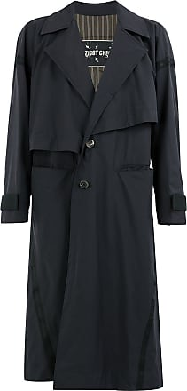 Ziggy Chen single breasted overcoat - Blue