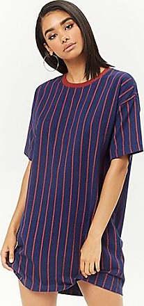 Forever 21 Forever 21 Striped Mini T-Shirt Dress Navy/rust