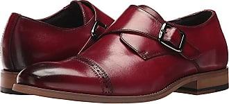 b0414acc4d5 Stacy Adams Desmond Cap-Toe Monk-Strap Loafer (Cranberry) Mens Shoes