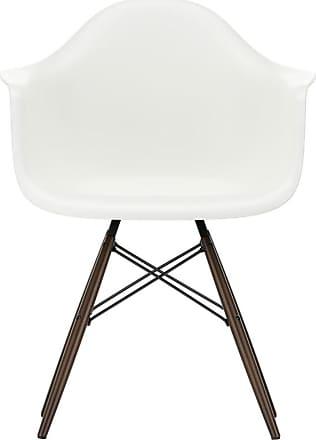 Vitra DAW Plastic Armchair Dark Maple Base
