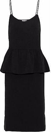 Ganni Ganni Woman Crepe Peplum Dress Black Size 38