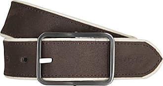 09034d9b9c5304 Bugatti Gürtel Herrengürtel Ledergürtel Veloursleder Braun 433,  Farbe:Braun, Länge:105
