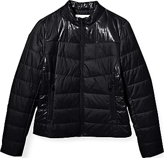 Calvin Klein Jeans Womens Padded Moto Jacket, CK Black, S