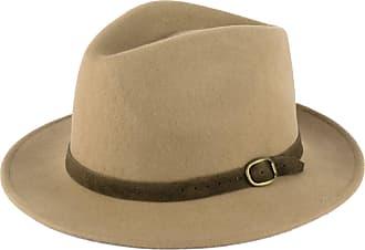 Hat To Socks Wool Fedora Hat with Suede Belt Handmade in Italy Beige