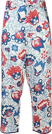 JEJIA Calça cropped com estampa floral - Estampado