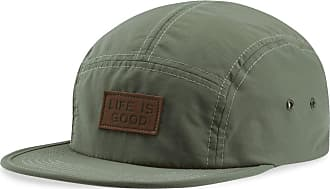 Life is good Leather LIG Patch Low Five Cap OS Light Forest Green