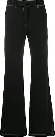 WWWM - What We Wear Matters Calça flare com detalhe de costura - Preto