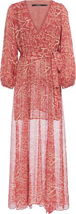 Ateen Vestido Longo Oriental Lurex - Vermelho