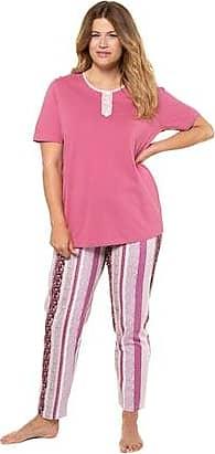 8f164a69e Ulla Popken Print Stripe Cotton Knit Pajama Set - Plus size fashion