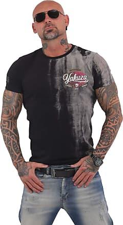 Yakuza Men T-Shirt Skull Dust, Color:Black, Size:L