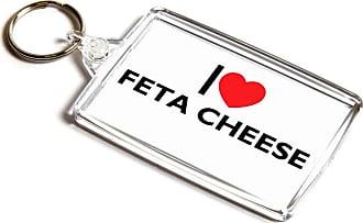 ILoveGifts KEYRING - I Love Feta Cheese - Novelty Food & Drink Gift