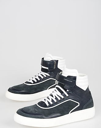 Corneliani ID Suede Leather High Sneakers size 43