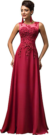 Grace Karin Women Long Prom Chiffon Evening Dress Red Plus Size 22 CL7555-5