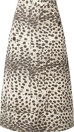 397449462 Sea New York Leopard-print Cotton-canvas Midi Skirt - Leopard print
