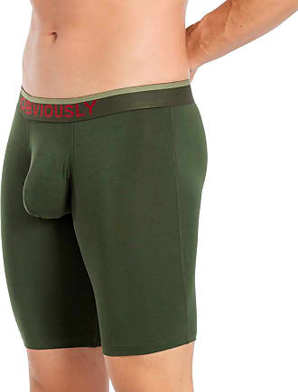 Obviously Mens Freeman AnatoFREE Boxer Brief 9inch Leg - Pine Green - Extra Large