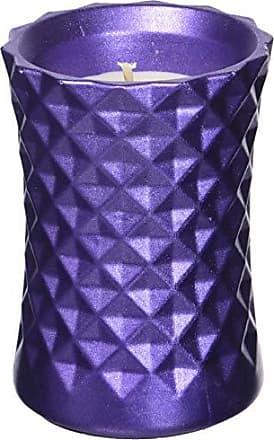 Candellana Candles Candlefort Concrete Candle Lemongrass Scent Gothic Violet Metallic