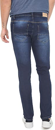 Aleatory Calça Jeans Aleatory Slim Estonada Azul