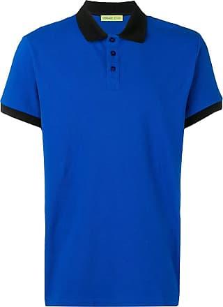 Versace Jeans Couture Camisa polo com contraste - Azul